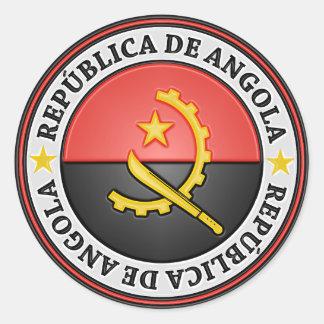 Adesivo Redondo Emblema redondo de Angola