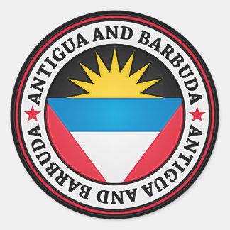 Adesivo Redondo Emblema redondo de Antígua e de Barbuda