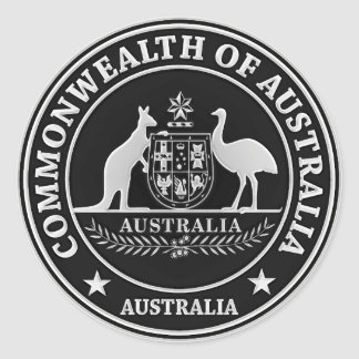 Adesivo Redondo Emblema redondo de Austrália