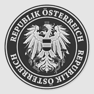 Adesivo Redondo Emblema redondo de Áustria