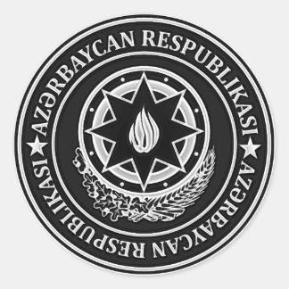 Adesivo Redondo Emblema redondo de Azerbaijan