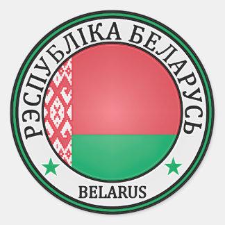 Adesivo Redondo Emblema redondo de Belarus