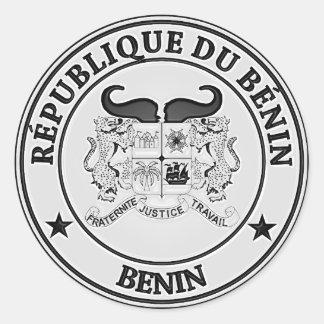 Adesivo Redondo Emblema redondo de Benin