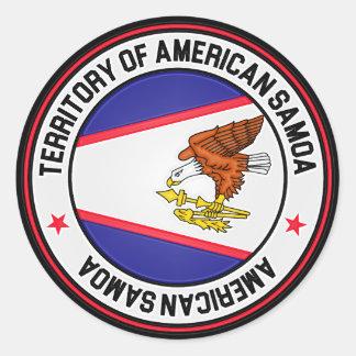 Adesivo Redondo Emblema redondo de Samoa Americanas