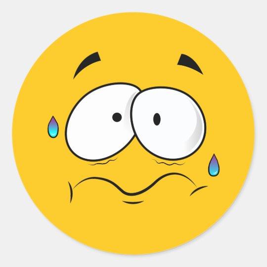 Armario Garaje Plastico ~ Adesivo Redondo Emoji amarelo preocupado Zazzle com br