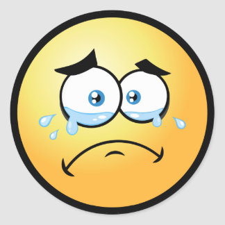 Adesivo Redondo Emoji de grito pequeno