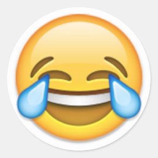 Adesivo Redondo Emoji de riso