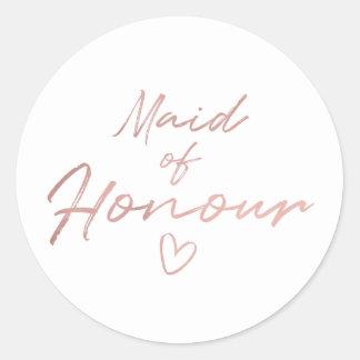 Adesivo Redondo Empregada doméstica de honra - o falso cor-de-rosa