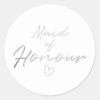 Adesivo Redondo Empregada doméstica de honra - o falso de prata