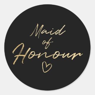 Adesivo Redondo Empregada doméstica de honra - o falso do ouro