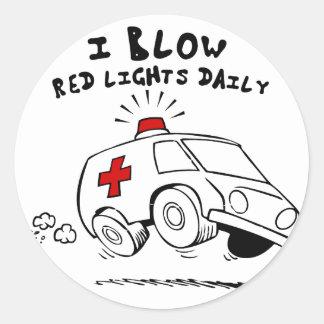 Adesivo Redondo emt do paramédico