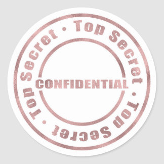 Adesivo Redondo Encanto moderno do ouro cor-de-rosa confidencial