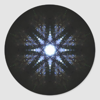 Adesivo Redondo Energia pura mandala Estrela-Dada forma do reator