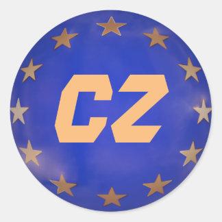 Adesivo Redondo Enfeites de natal da União Europeia de república