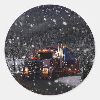 Adesivo Redondo Entrega do Natal