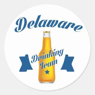 Adesivo Redondo Equipe do bebendo de Delaware