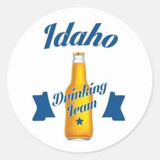 Adesivo Redondo Equipe do bebendo de Idaho