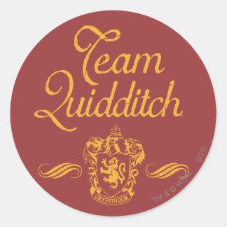 Adesivo Redondo Equipe QUIDDITCH™ de Harry Potter |