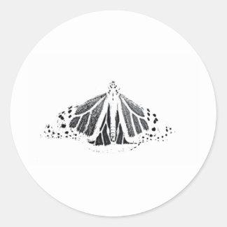 Adesivo Redondo Esboço do monarca