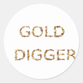 Adesivo Redondo Escavador de ouro