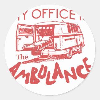 Adesivo Redondo escritório do paramédico