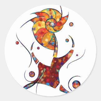 Adesivo Redondo Espanessua - flor espiral imaginária