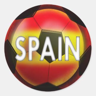 Adesivo Redondo Espanha:  Equipe do futebol #1