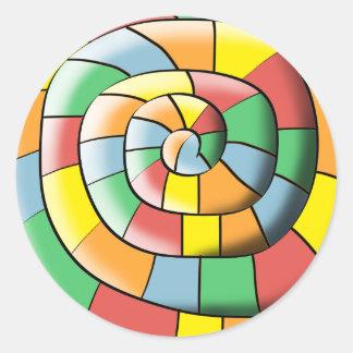 Adesivo Redondo Espiral colorida