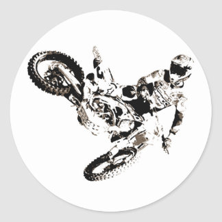 Adesivo Redondo Esporte de Motorcyle do motocross do pop art