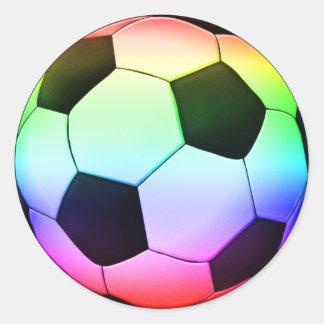 Adesivo Redondo Esporte do futebol do futebol | de Colorfull