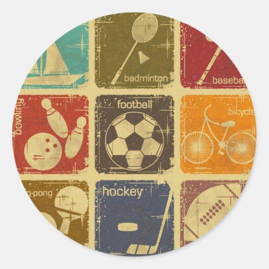 Adesivo Redondo Esportes