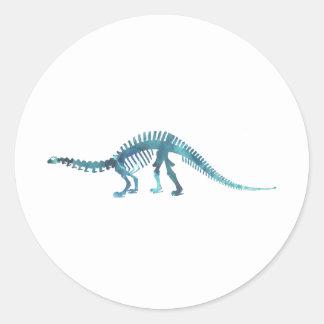 Adesivo Redondo Esqueleto do dinossauro