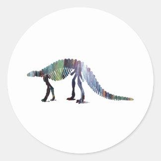 Adesivo Redondo Esqueleto do dinossauro (Scelidosaurus)