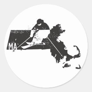 Adesivo Redondo Esqui Massachusetts