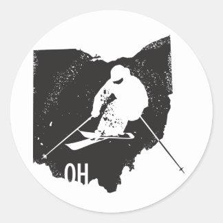 Adesivo Redondo Esqui Ohio
