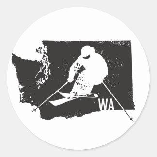 Adesivo Redondo Esqui Washington
