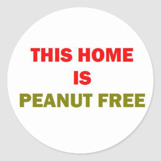 Adesivo Redondo Esta casa é amendoim livre