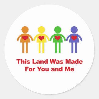 Adesivo Redondo Esta terra foi feita para você e mim