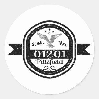 Adesivo Redondo Estabelecido em 01201 Pittsfield