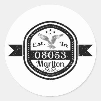 Adesivo Redondo Estabelecido em 08053 Marlton