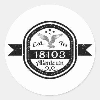 Adesivo Redondo Estabelecido em 18103 Allentown