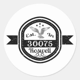 Adesivo Redondo Estabelecido em 30075 Roswell