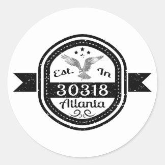 Adesivo Redondo Estabelecido em 30318 Atlanta