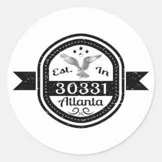 Adesivo Redondo Estabelecido em 30331 Atlanta