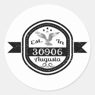 Adesivo Redondo Estabelecido em 30906 Augusta