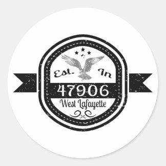 Adesivo Redondo Estabelecido em 47906 Lafayette ocidental