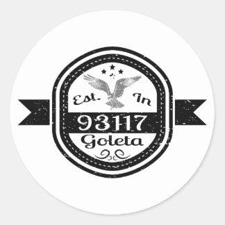 Adesivo Redondo Estabelecido em 93117 Goleta