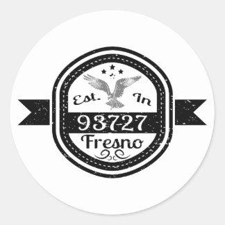 Adesivo Redondo Estabelecido em 93727 Fresno