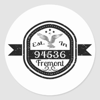 Adesivo Redondo Estabelecido em 94536 Fremont