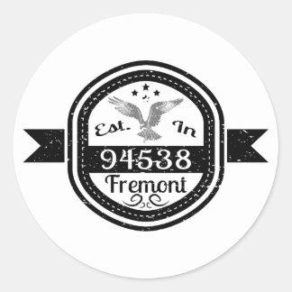 Adesivo Redondo Estabelecido em 94538 Fremont
